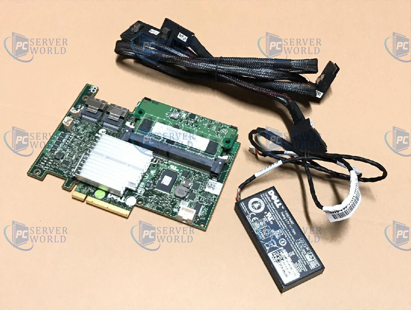 """Dell H700 Raid Card W// 512MB BATTERY /& SAS CABLE For Poweredge R710 2.5/"""" SFF"""